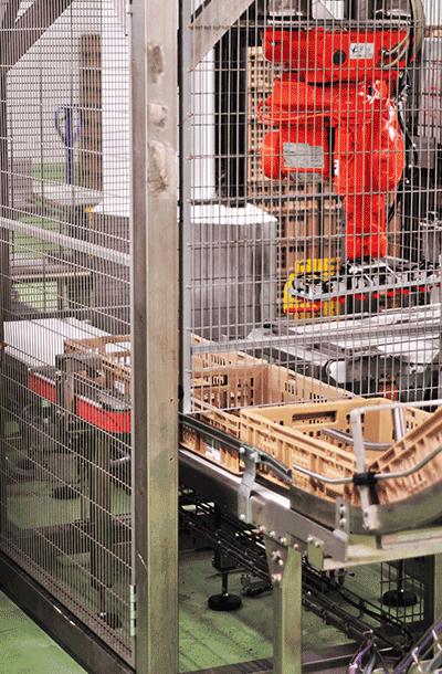 Remplissage de conteneurs par robot